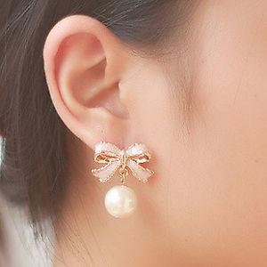 【送料無料】ピアス デピンクローズゴールドクリップピアス as de65410 me frauen rosa rose gold clip auf ohrringe bowknot