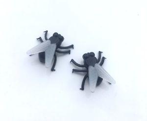 【送料無料】ピアス ハロウィーンピアス フライhalloween fliegen ohrringe insekt rotting kostm