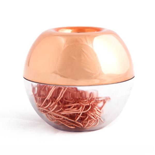 【送料無料】ピアス レッドゴールドィスクリップマグネットクリップディスペンサーローズゴールドィス3x100 bueroklammern in rotgold magnetic clip dispenser, rose gold bueroklamm n1