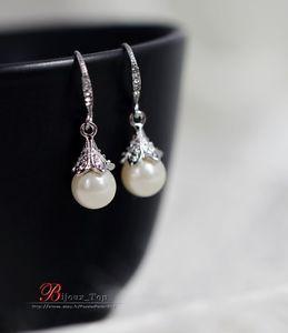 【送料無料】ピアス ピアス シルバークリスタルパールクラスビンテージオリジナルohrringe silber kristall perle class vintage original hochzeit d 4