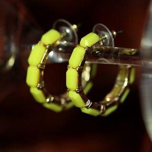 【送料無料】ピアス クレオールリングピアス ohrringe ring kreole gelb original abend ehe geschenk dd 2