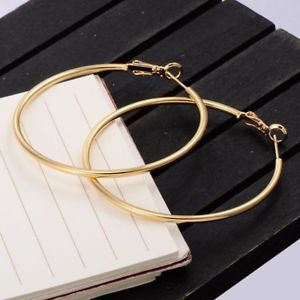 【送料無料】ピアス ゴールデンイエローラミネートktピアス ohrringe ringe frau mit gold gelb laminat 9 kt