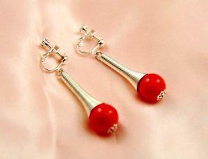 【送料無料】ピアス ピアス ピアス レッドクラスohrringe clips ohrhnger perle rot class original abend ehe f2