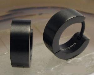 【送料無料】ピアス クラシックピアス マットステンレススチールフープkikuchi klassische ohrringe schwarz matt herren edelstahl creolen 5mm13mm