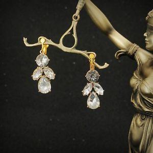【送料無料】ピアス ピアス クリップゴールデンキャンドルホルダーアールデコビンテージohrringeohren clips golden kerzenhalter art deco kristall transparent vintage