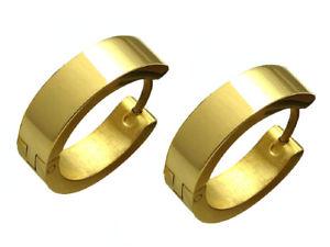 【送料無料】ピアス ピアス ゴールドチタンロッドステンレススチールレディースフープkikuchi ohrringe gold glnzend titan stbchen edelstahl creolen 18mm damen herr