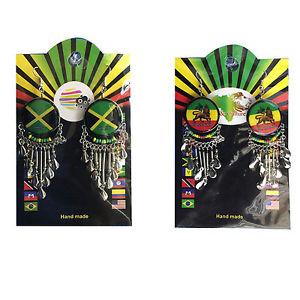 【送料無料】ピアス ユダレゲエジャマイカピアス ライオンlion of judah rastafari rasta jamaica kaiserin reggae one love ohrringe neu