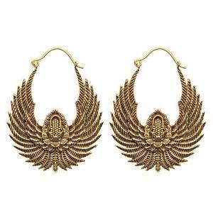 【送料無料】ピアス ゴールドエジプトピアス 81stgeneration messing goldton egyptian vogel flugel ethnisch ohrringe baumeln