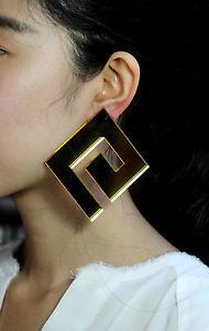 【送料無料】ピアス ピアス クリップハイパーゴールデンohrringe clips hyper gro quadrat geometrisch golden bb 10