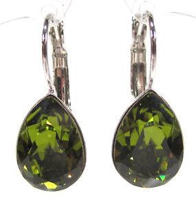 【送料無料】ピアス ピアス カンラングリーンオリーブドロップピアス soho ohrhnger ohrringe geschliffene kristalle tropfen olivine grn olive drop