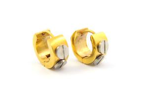【送料無料】ピアス フープピアス ゴールドシルバーcreolen ohrringe edelsthal mit gold und silber farben