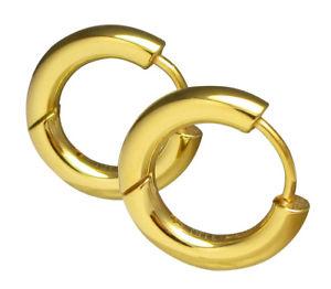 【送料無料】ピアス クラシックピアス ゴールドレディースメンズチタンステンレスフープkikuchi klassische ohrringe gold damen herren titanedelstahl creolen 16mm tube