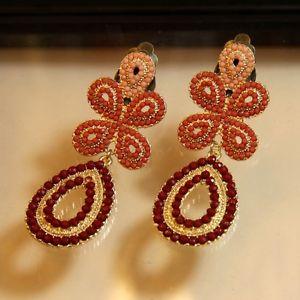 【送料無料】ピアス ピアス クリップミニパールファインピンクオレンジオリジナルohrringe clips lang mini perle fein rosa orange original geschenk a3