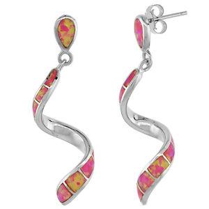【送料無料】ピアス ピアス ピンクオパールsterling silber rosa opal wirbel ohrringe