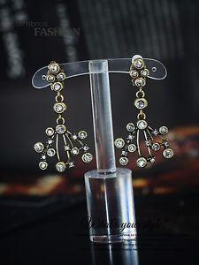 【送料無料】ピアス ピアス ファッションクリップゴールデンペンダントキャンドルホルダーアイロンクリスタルohrringe mode clips golden anhnger kerzenhalter bgel kristall j2