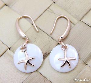 【送料無料】ピアス シルバーピンクゴールドハワイヒトデヒトデピアス ホワイトセラミック925 silber rosa gold hawaii starfish seestern weie keramik kreis ohrringe