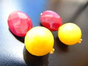 【送料無料】ピアス イエローメノウゴールドカラールビーピアス ピアス レビーohrringe ohrclips gold farbe edelsteine rubin mit gelbe achat, von catia levy