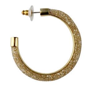 【送料無料】ピアス スワロフスキーピアス フープスターダストデラックスナイロンメタルゴールドswarovski ohrringe creolen stardust dlx nylon 5186730 metall gold kristalle