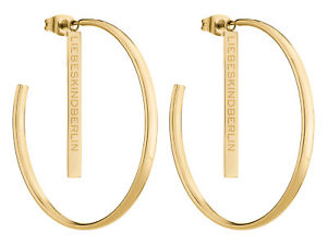 【送料無料】ピアス ベルリンクレオールサイズステンレスゴールドliebeskind berlin creole gre 43 mm in edelstahl, ip gold lj0257e43