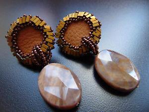 【送料無料】ピアス シルバーブロンズピアス ピアス レビーohrringe ohrclips versilber mit edelsteine achat und bronze perle,von catia levy