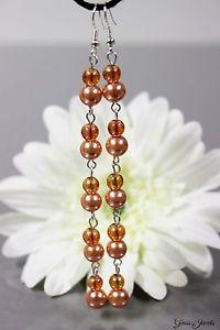 【送料無料】ピアス ガラスシルバーピアス ピアス ビーズオレンジglass jewels lange xxl silber ohrringe ohrhnger perlen orange party l074