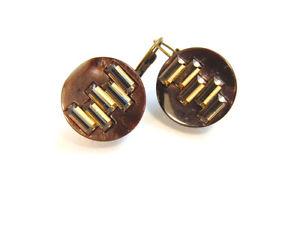【送料無料】ピアス ピアス ピアス ビンテージブロンズビーズレビーohrringe ohrhnger vintage bronze mit braunen perlen kristallen, von catia levy