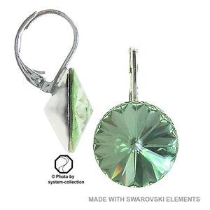 【送料無料】ピアス スワロフスキーエレメントカラーピアス 14 mm ohrring mit swarovski elements, farbe chrysolit