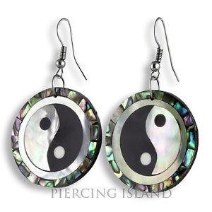 【送料無料】ピアス ヤンコンチピアス ハンガーアワビパールデザインedle ying yang muschel ohrringe hnger abalone perlmutt design er267
