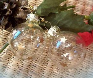 【送料無料】ピアス クリスマスピアス ガラス ltd edit christbaumkugel weihnachtsohrringe glas goldene sterne 3cm