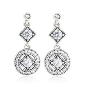 【送料無料】ピアス スターリングシルバービンテージクリスタルスノーフレークピアス ロングネックレスsterlingsilber 925er vintage crystal snowflake lange ohrringe earrings