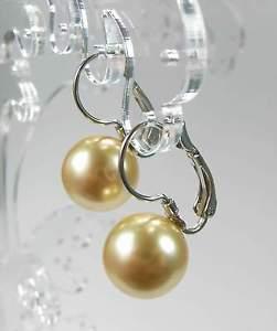 【送料無料】ピアス スワロフスキークリスタルビーズカラーゴールドピアス ピアス neu ohrhnger mit 12mm swarovski perlen farbe gold ohrringe