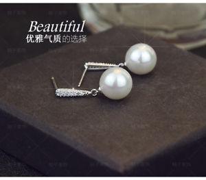 【送料無料】ピアス ピアス シルバークリスタルパールホワイトコネクタクラスファッション
