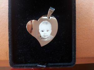 【送料無料】ネックレス コンクオーレコンcollana con cuore personalizzatoinciso con fototesto