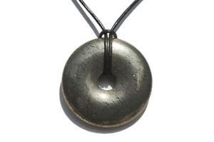 【送料無料】ネックレス ドーナツパイパイライトdonut ou pi chinois pyrite 4cm