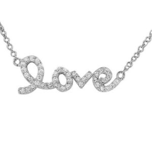 【送料無料】ネックレス スターリングシルバーホワイトキュービックジルコンネックレスen argent sterling 925 amour cur charme criture blanc zircon cubique collier