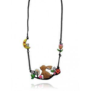 Collier lapin Marron Lol bijoux