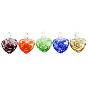 【送料無料】ネックレス ×ムラノガラス5x10 pendentif pendant murano verre coeur 18mm 5 couleurs t5t6