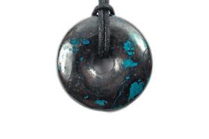 【送料無料】ネックレス ドーナツパイヘマタイトdonut ou pi chinois hmatite chrysocole 4cm