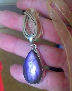 【送料無料】ネックレス pendentif labradorite violette