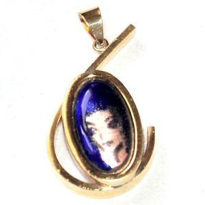 【送料無料】ネックレス ビンテージゴールドカラーpendentif vintage couleur or maux portrait femme bijou pendant