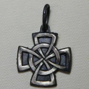 【送料無料】ネックレス セルティックアルジェントceltic,croce celtica ciondolo argento brunito
