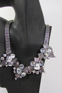 【送料無料】ネックレス モードクランプnouveau femmes tendance argent mtal multicolore fleurs collier la mode grosse