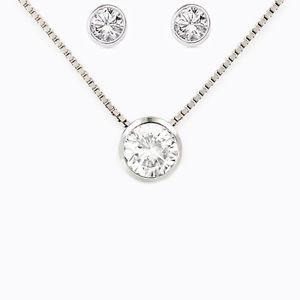【送料無料】ネックレス プントアルジェントcompleto donna collana orecchini punto luce in argento 925 zirconi brillanti