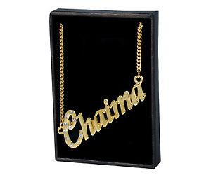 【送料無料】ネックレス クランプモードカスタムnom colliers chaima 18k plaqu or mode cadeaux amis crateur personnalis