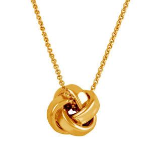 【送料無料】ネックレス スターリングシルバーバラノードクリップfemmes en argent sterling 925 plaqu or rose pendentif noeud 16 51cm collier