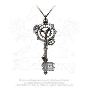 【送料無料】ネックレス キーギアalchimie steampunk septagramic coercion engrenage cl pendentif