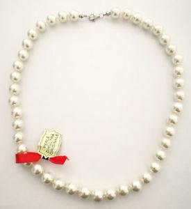 【送料無料】ネックレス ドナパールディダアルジェントcollana donna perle di kultra da 10mm x 42cm originale montata in argento 925