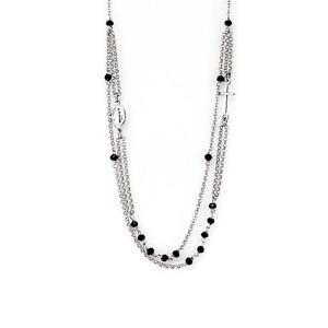 【送料無料】ネックレス アルジェントコンcollana rosario girocollo multifilo mkcl035 in argento 925 con grani lisci