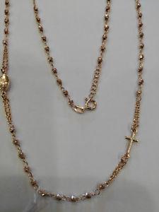 【送料無料】ネックレス ローズアルジェントヌォーヴァコンcollana rosario modello rose in argento 925 , 50cm, nuova con astuccio