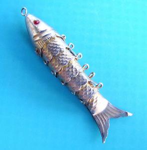 【送料無料】ネックレス ペンダントj246 pendentif poisson articule